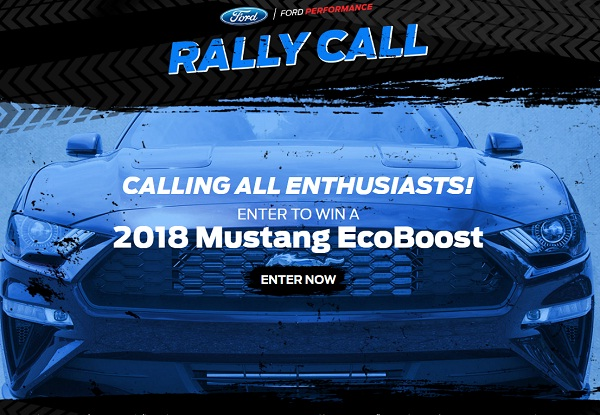 2017 Ford Performance Rally Call Sweepstakes