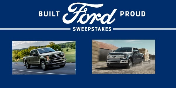 Ford Built Ford Proud Sweepstakes: Win Lease For Ford Vehicle
