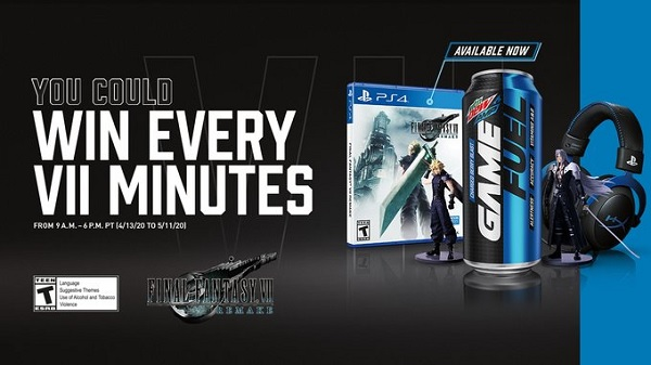 MTN Dew Amp Game Fuel FF VII Remake IWG and Sweepstakes