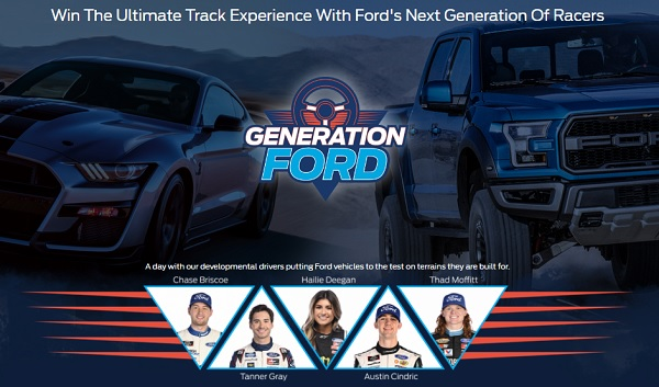 Generation Ford Sweepstakes 2020