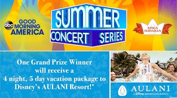 GoodMorningAmerica.com Summer Concert Series Sweepstakes