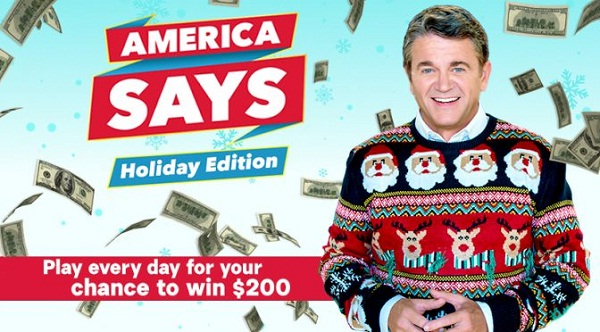 GSNTV.com America Says Holiday Game Sweepstakes