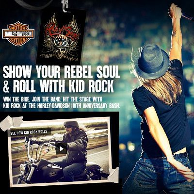 Win Bike in Harley-Davidson Kid Rock Contest 2013