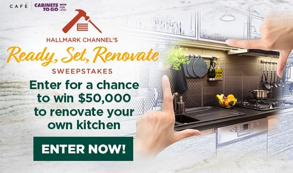 Hallmark Channel Ready, Set, Renovate Sweepstakes: Win Home Makeover