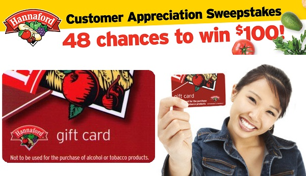 Hannaford Customer Appreciation Sweepstakes (576 Winners)