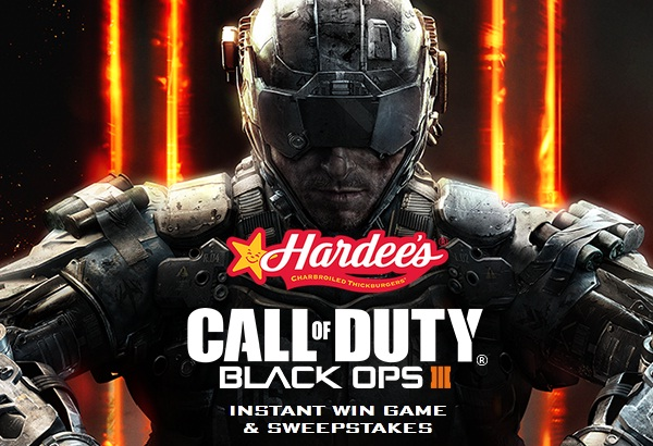 Hardee's Call of Duty: Black Ops III Instant Win Game & Sweepstakes