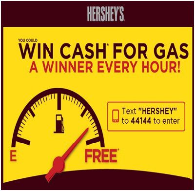 Hershey's Cash For Gas Giveaway