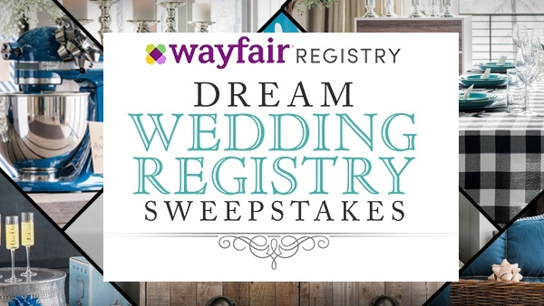 HGTV.com Wayfair Dream Wedding Registry Sweepstakes