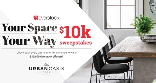 HGTV.com Your Space Your Way Sweepstakes