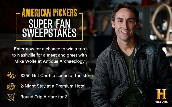 History.com American Pickers Super Fan Sweepstakes