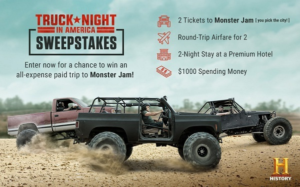 History.com Truck Night in America Sweepstakes
