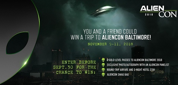 History.com Win a Trip to Aliencon Baltimore Galactic Sweepstakes