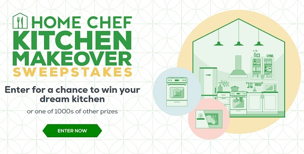 Home Chef Kitchen Makeover Sweepstakes (4016 Prizes)