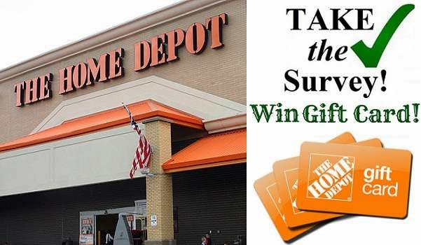 Home Depot Opinion Survey Sweepstakes: Win $5,000 Home Depot gift ...