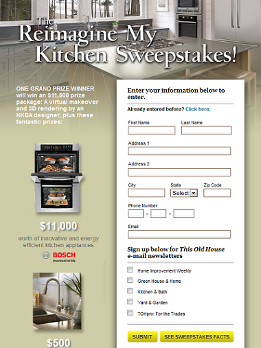This Old House Kitchen Makeover Sweepstakes