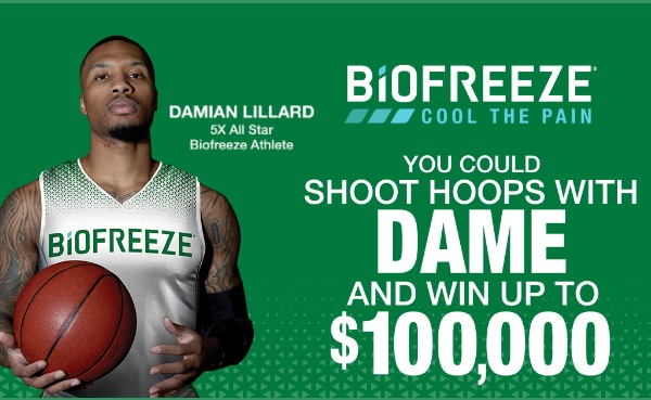 Biofreeze Damian Lillard Shoot for Cash Sweepstakes 2021