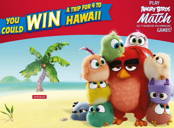Hostess Angry Birds Sweepstakes: Win Free Trip to Hawaii!