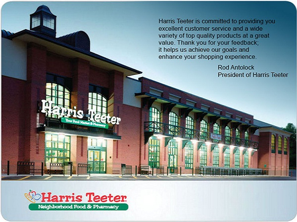 Enter Harris Teeter Survey Sweepstakes on HTsurvey.com