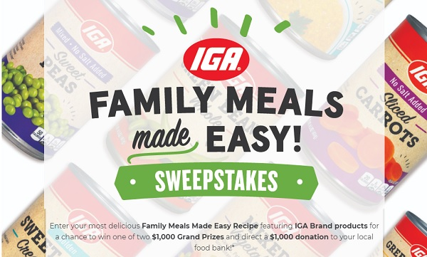 IGA - 2014 IGA Loves Your Kitchen Sweepstakes