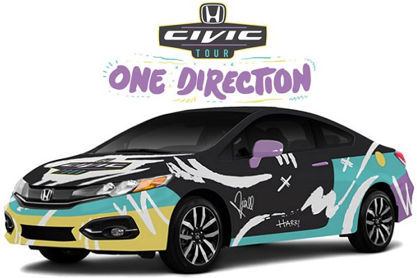 Win One Direction's 2015 Customized Honda Civic Coupe EX-L
