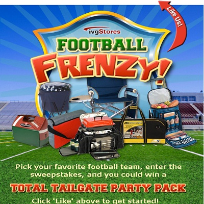 Win Tailgating Party with ivgStores Football Frenzy Sweepstakes