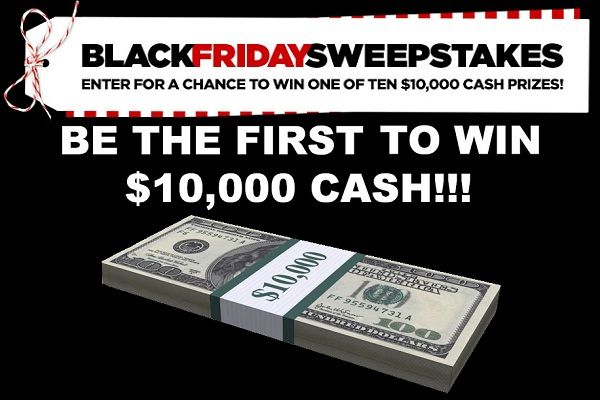 JCPenney Black Friday $10,000 Sweepstakes