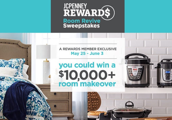 JCPenney Rewards Room Revive Sweepstakes: Win $10k Room Makeover!