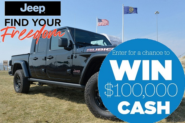 Jeep Find Your Freedom Contest: Win $100,000 Cash