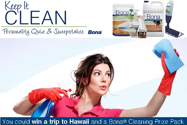 Keep it Clean Quiz and Sweepstakes
