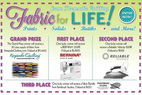 Keepsake Quilting - Fabric for Life Sweepstakes