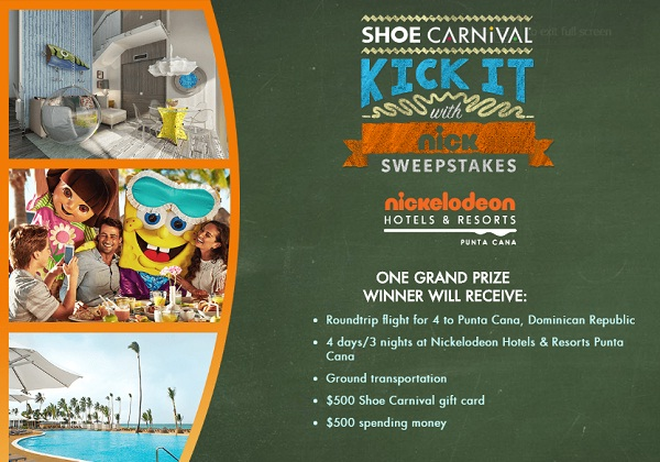 Shoe Carnival's Kick It With Nick Sweepstakes