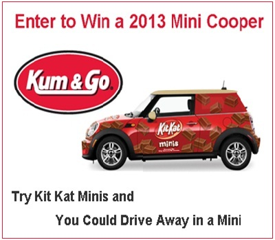 Win a 2013 Mini Cooper from Kum & Go and Kit Kat Minis