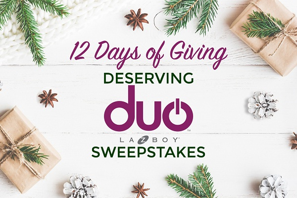 12 Days of Giving Deserving Duo 2017 Sweepstakes
