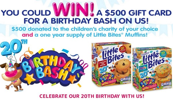 Littlebites.com 20th Birthday Bash Sweepstakes