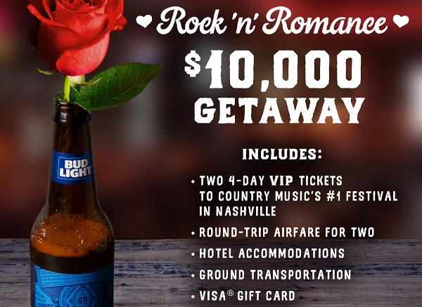 The Logan's Roadhouse Rock 'N' Romance Getaway Sweepstakes