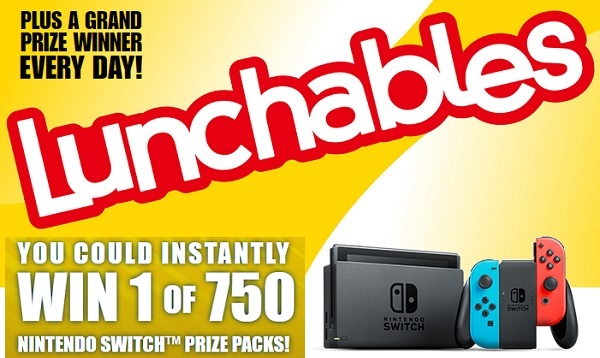 Lunchables Nintendo Switch Game Giveaway 2020
