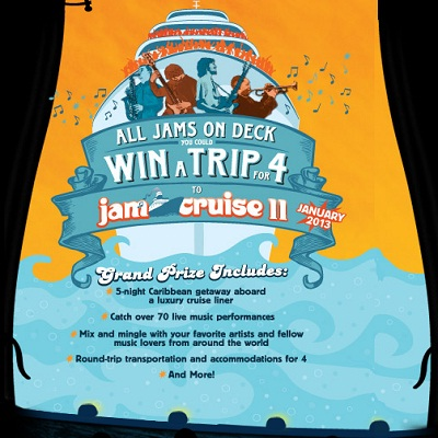 Magic Hat Jam Cruise 11 Sweepstakes