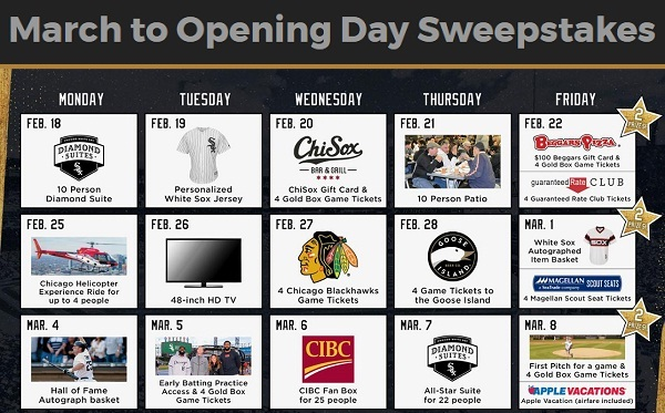 Mlb.com March to Opening Day Sweepstakes