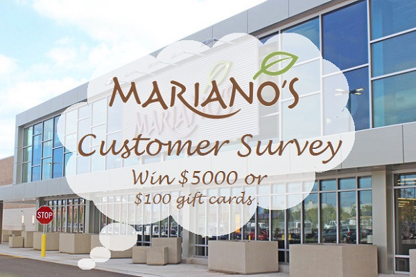 Mariano's Experience Customer Survey: Win $45000 in Gift Cards