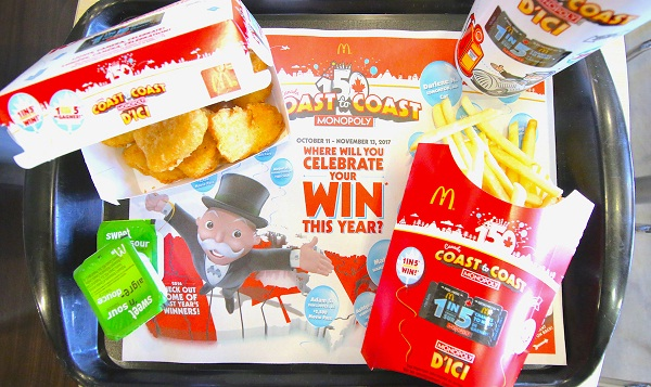 Play McDonald's Canada Coast to Coast Monopoly Game