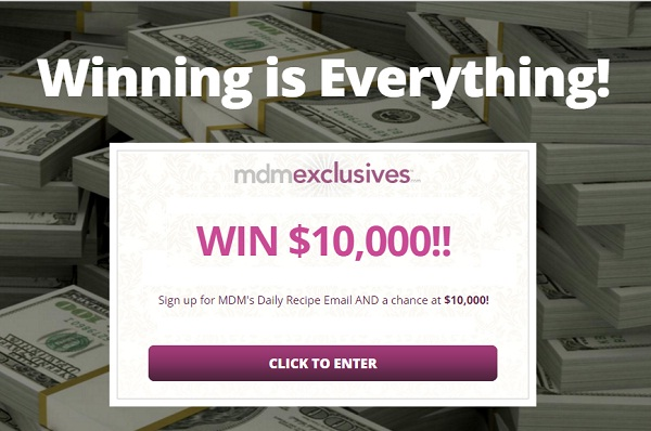 Daily cash sweepstakes