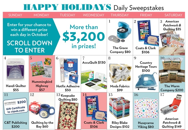 Meredith Corporation Happy Holidays Sweepstakes (Daily Prizes)