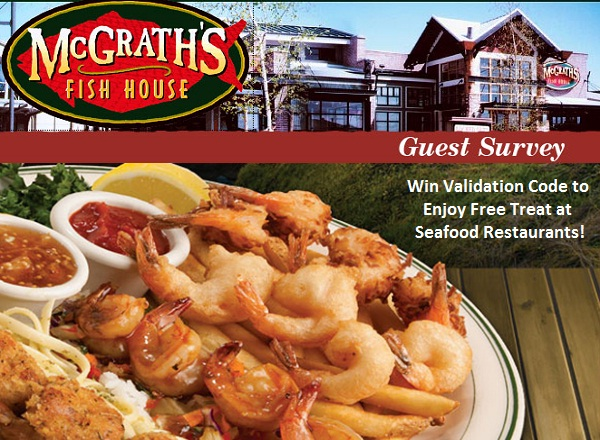 Get Coupon For Taking McGrath's Fish House Survey