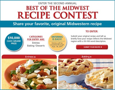 Win $10000 in Best of the Midwest Recipe Contest