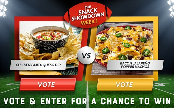 Missionfoods.com Snack Showdown Sweepstakes