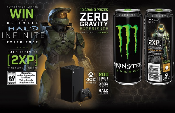 Monster Energy Halo Infinite Sweepstakes (210 Winners)