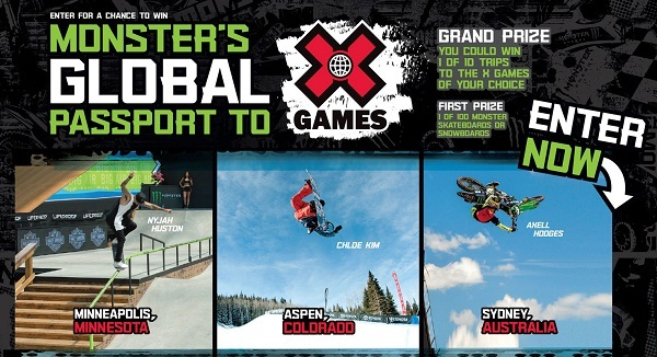 Monsterenergy.com XGAMES Experience Sweepstakes