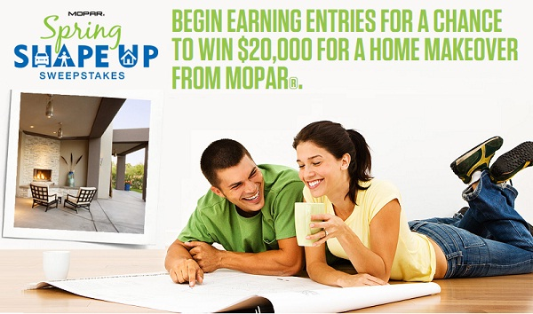 Mopar Spring Shape Up Sweepstakes & Instant Win Game