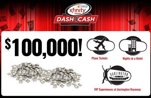 NASCAR Dash4Cash $100K Sweepstakes