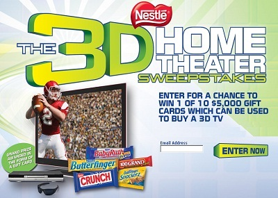 Nestle's 3D Home Theater Sweepstakes